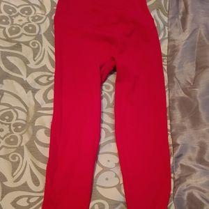 Hot pink ribbed Victoria secret sport leggings